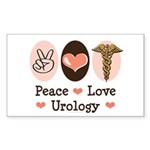 Peace Love Urology Rectangle Sticker
