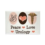 Peace Love Urology Rectangle Magnet