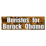 Baristas for Barack Obama bumper sticker