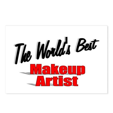&quot;The World's Best Makeup Artist&quot; Postcards (Packag