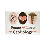 Peace Love Cardiology Rectangle Magnet (100 pack)