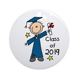 Boy Graduate 2013 Ornament (Round)