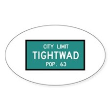 Tightwad, MO (USA) Oval Decal