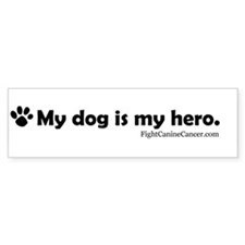 Canine Cancer Awareness Bumper Bumper Sticker