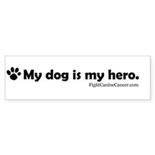 Canine Cancer Awareness Bumper Car Sticker
