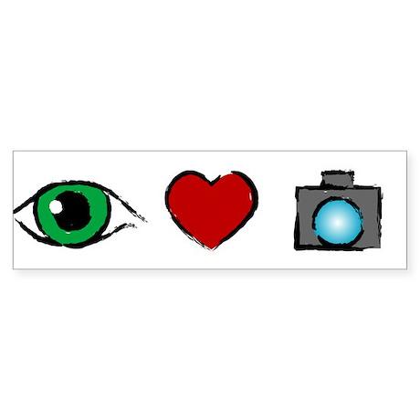 WTD: I Love Photography Bumper Sticker (10 pk)