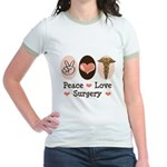 Peace Love Surgery Jr. Ringer T-Shirt