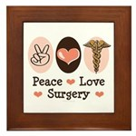Peace Love Surgery Framed Tile