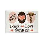 Peace Love Surgery Rectangle Magnet (100 pack)