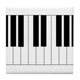 Big Piano Keyboard Tile Coaster