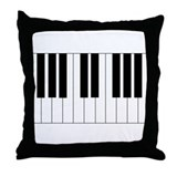 Big Piano Keyboard Throw Pillow