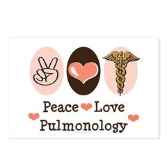 Peace Love Pulmonology Postcards (Package of 8)