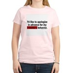 I'D LIKE TO APOLOGIZE Women's Light T-Shirt