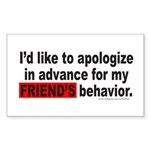 I'D LIKE TO APOLOGIZE Rectangle Sticker 50 pk)