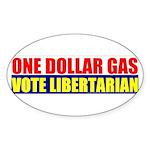 Rylla's Dollar Gas Oval Sticker (10 pk)