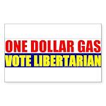 Rylla's Dollar Gas Rectangle Sticker 50 pk)