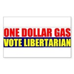 Rylla's Dollar Gas Rectangle Sticker 10 pk)