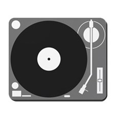 Gray Turntable Mousepad