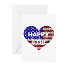 HAPPY 4TH Greeting Cards (Pk of 10)