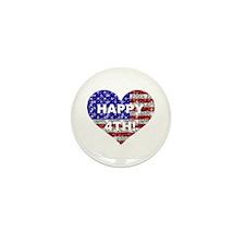 HAPPY 4TH Mini Button (10 pack)