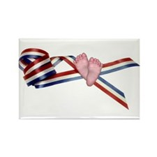 Prolife Ribbon Rectangle Magnet (10 pack)