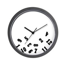 Oops Falling Numbers Wall Clock