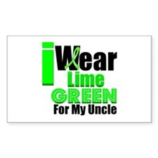 Lime Green Ribbon Rectangle Sticker 10 pk)