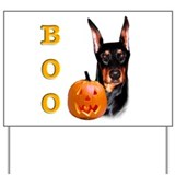 Halloween Doberman Boo Yard Sign
