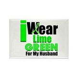 Lime Green Ribbon Rectangle Magnet (10 pack)