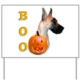Halloween Great Dane Boo #2 Yard Sign