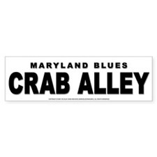 Crab Alley Bumper Bumper Sticker