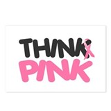 Think Pink 4 Postcards (Package of 8)