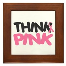 Think Pink 4 Framed Tile
