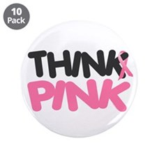 "Think Pink 4 3.5"" Button (10 pack)"