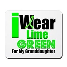 Lime Green Granddaughter Mousepad