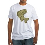 Smallmouthed Bass Fitted T-Shirt