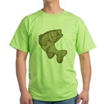 Smallmouthed Bass Green T-Shirt