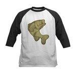 Smallmouthed Bass Kids Baseball Jersey