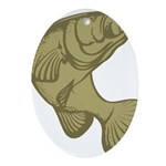 Smallmouthed Bass Oval Ornament
