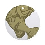 Smallmouthed Bass Ornament (Round)