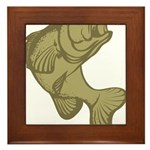 Smallmouthed Bass Framed Tile
