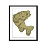 Smallmouthed Bass Framed Panel Print