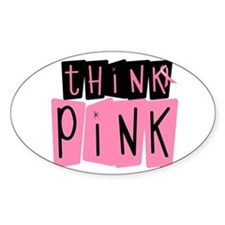 Think Pink 6 Oval Decal