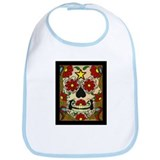 Day of the Dead Skull Bib