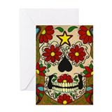 Day of the Dead Skull Greeting Card