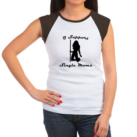 I Support Single Moms Womens Cap Sleeve T-Shirt