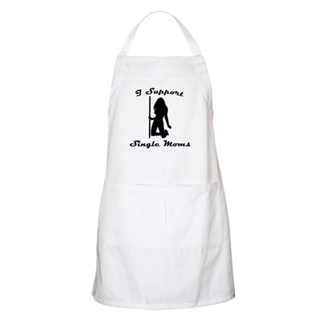 I Support Single Moms BBQ Apron