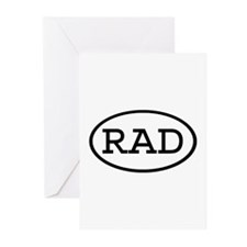 RAD Oval Greeting Cards (Pk of 10)
