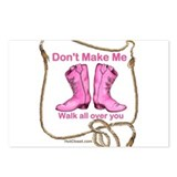 PINK BOOTS Postcards (Package of 8)