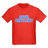 Retro Civil servant (Blue) T